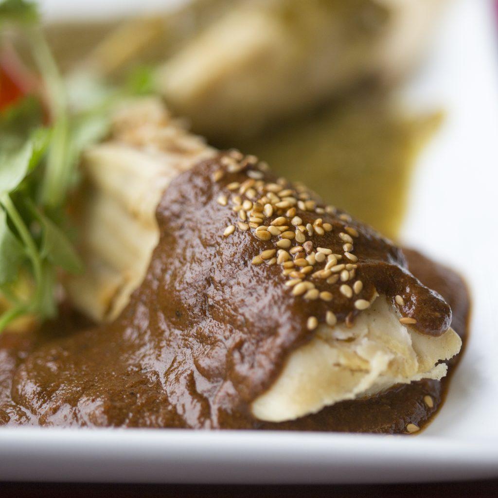 Oldfield Club: Chicken Mole Tamales with Bittersweet Chocolate (gluten free)