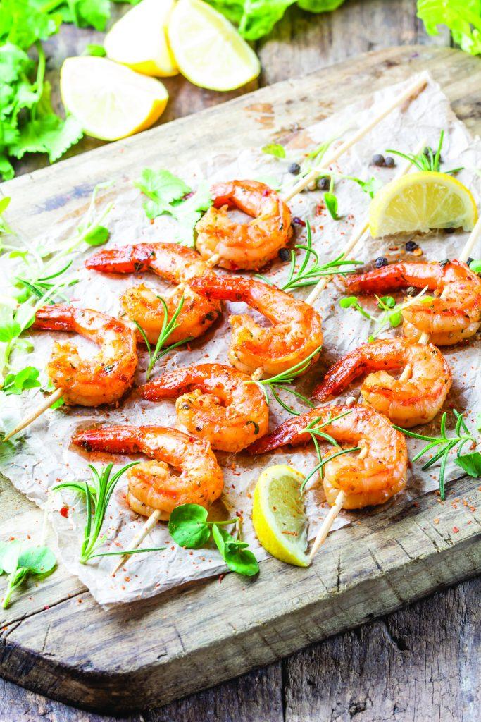 Benny Hudson Seafood Rosemary Shrimp Skewers
