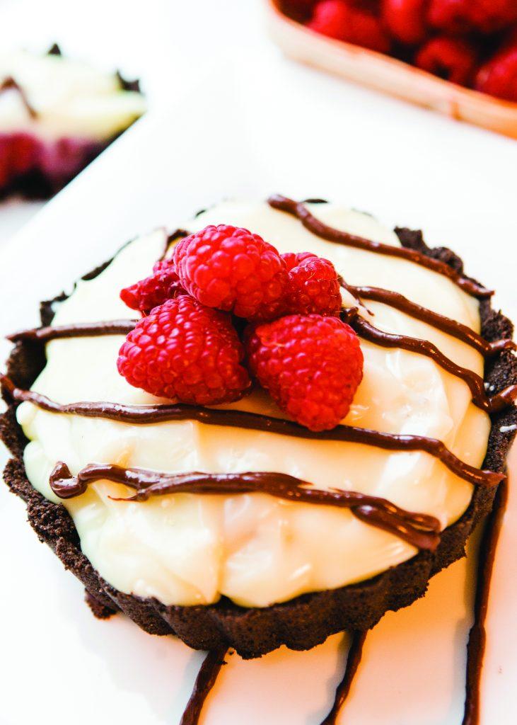 The Cypress White Chocolate Raspberry Tart